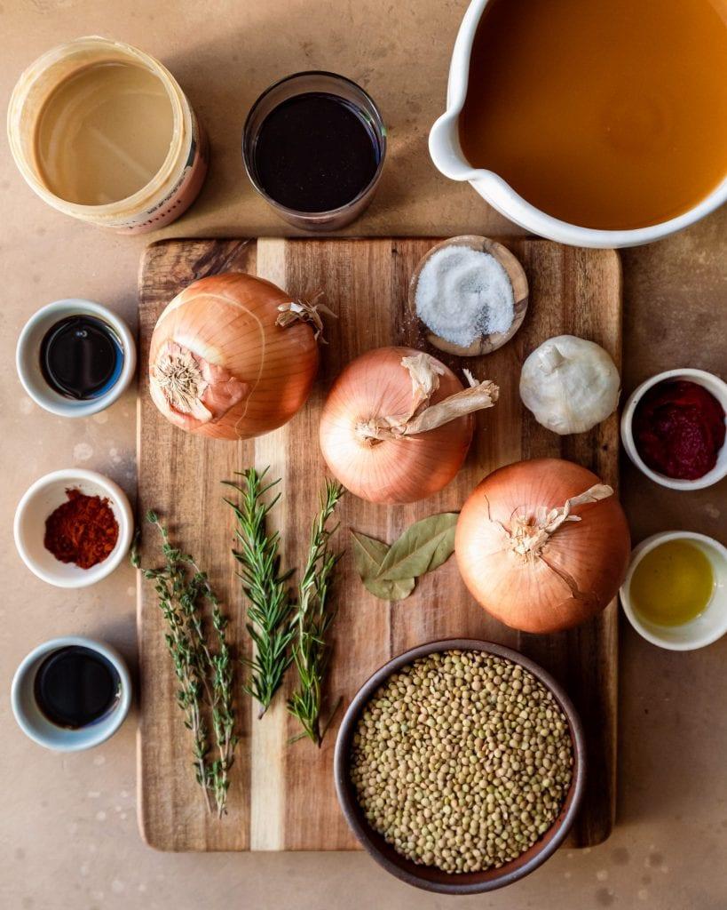 shepherd's pie - lentil filling ingredients