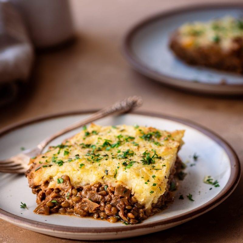healthy vegan lentil shepherd's pie