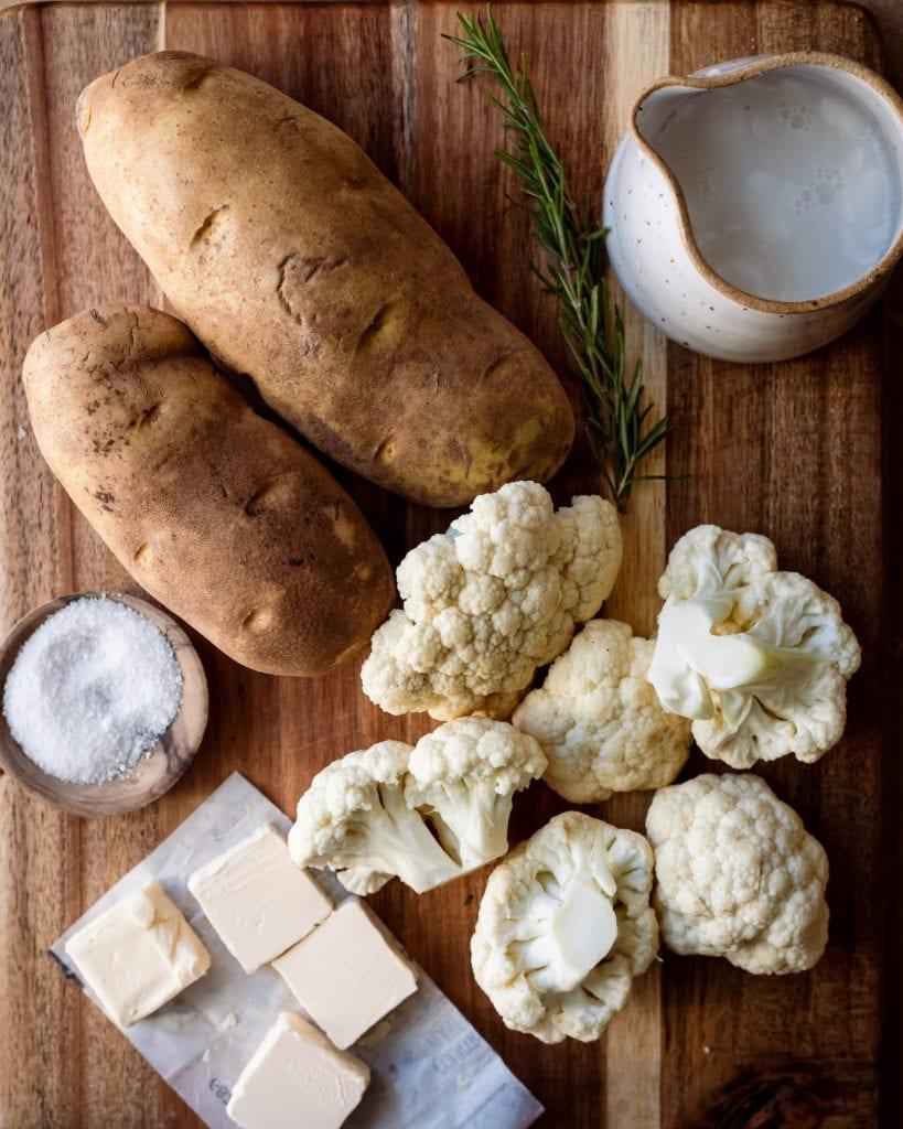 mashed cauliflower potato topping - ingredients