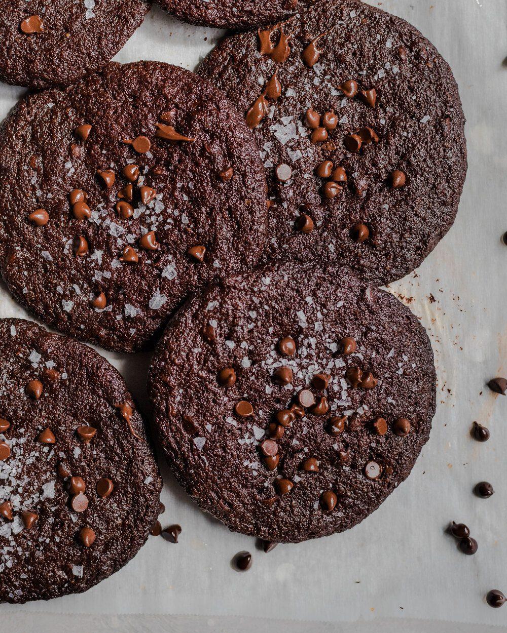 Dark Chocolate Blackout Cookies