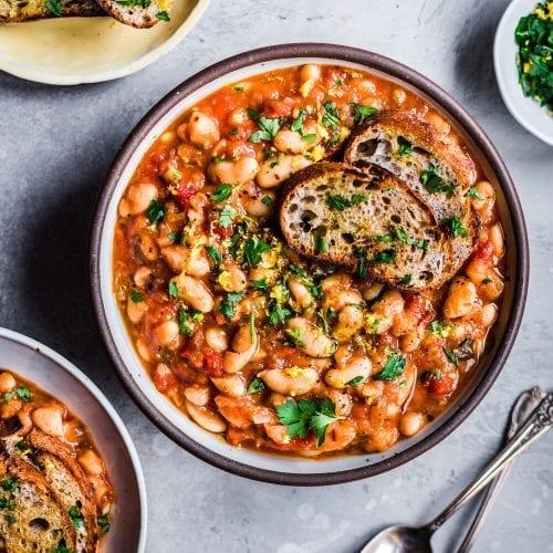 Vegan Instant Pot White Bean Stew