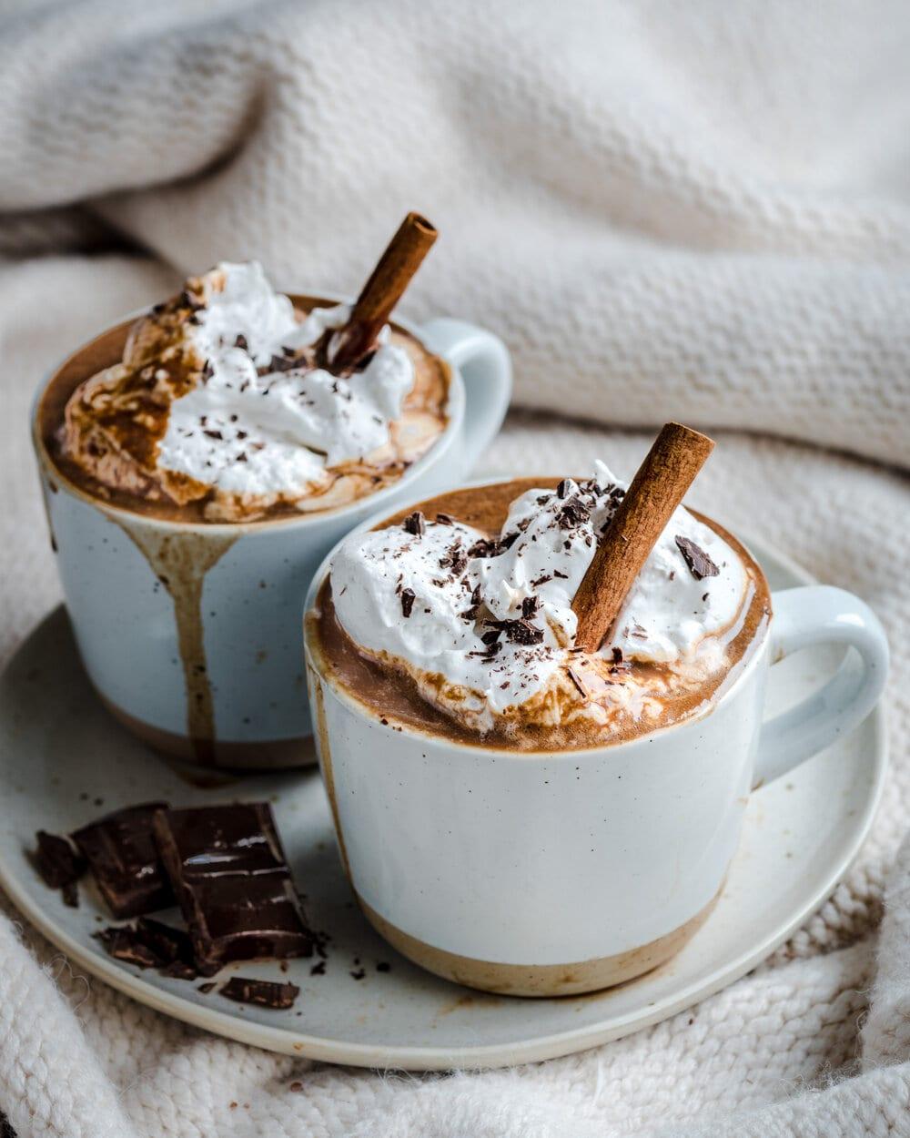 Healthy Vegan Gingerbread Hot Chocolate