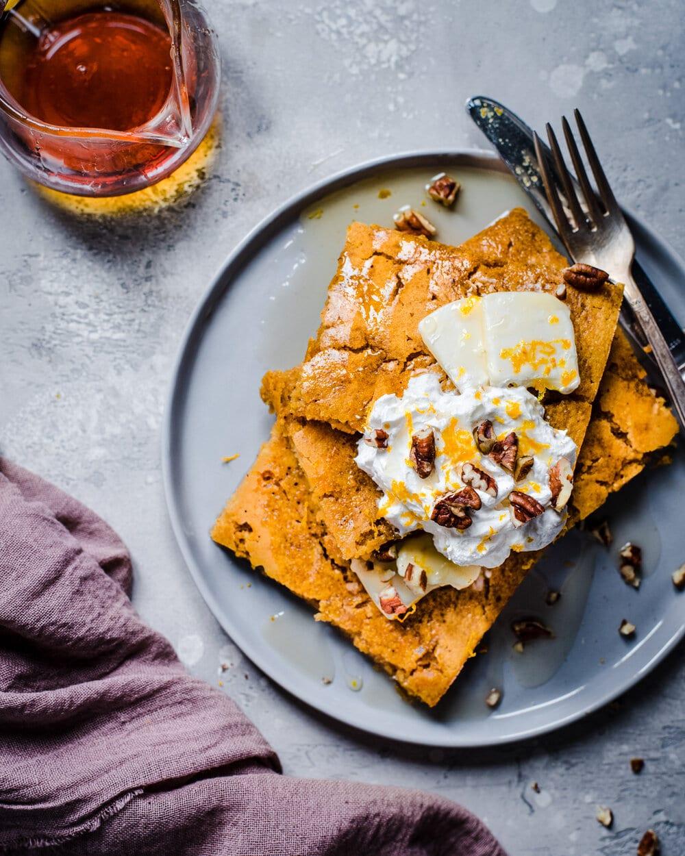 Vegan Pumpkin Sheet Pancakes