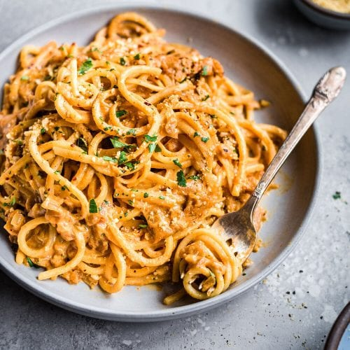 10-Ingredient Creamy Vegan Pantry Pasta