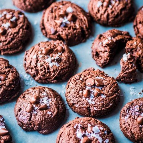 Vegan Triple Chocolate Cookies (Oil-Free, Refined Sugar Free)