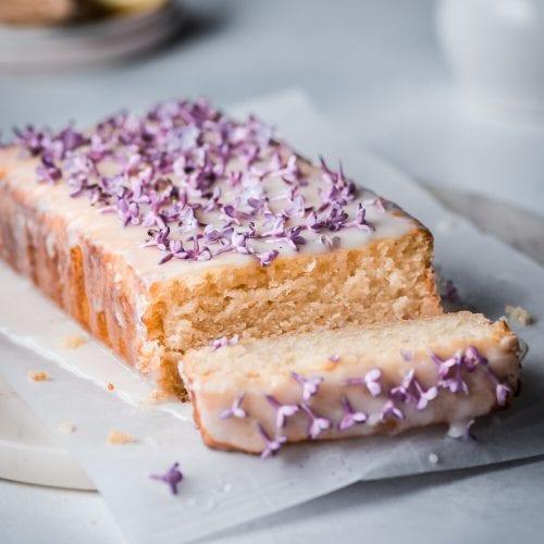 Vegan Lilac Lemon Cake