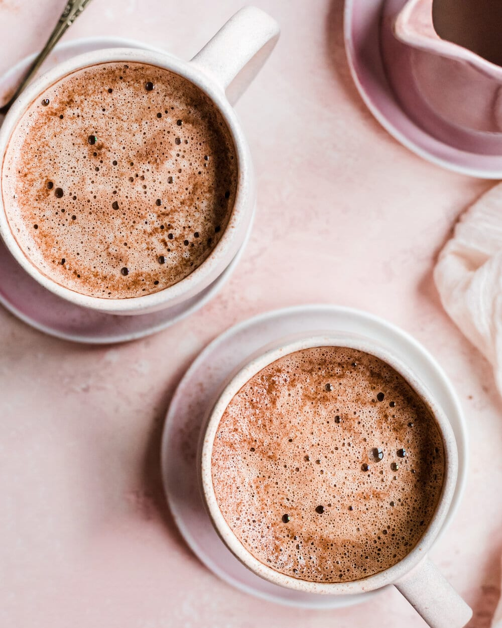 Creamy Vegan Protein Mocha Latte. latte food photography. coffee food photography.