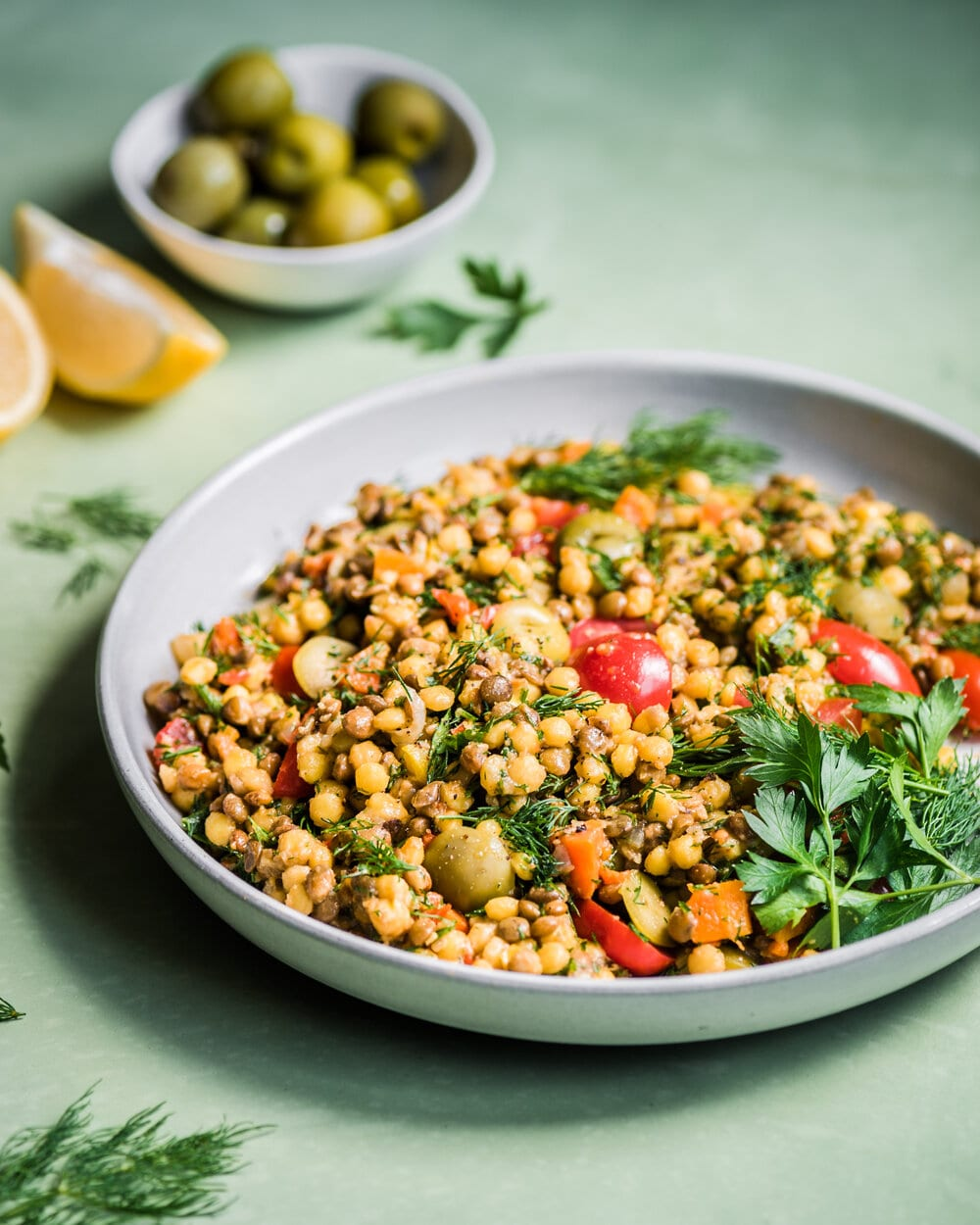 Instant Pot Israeli Couscous and Lentil Salad