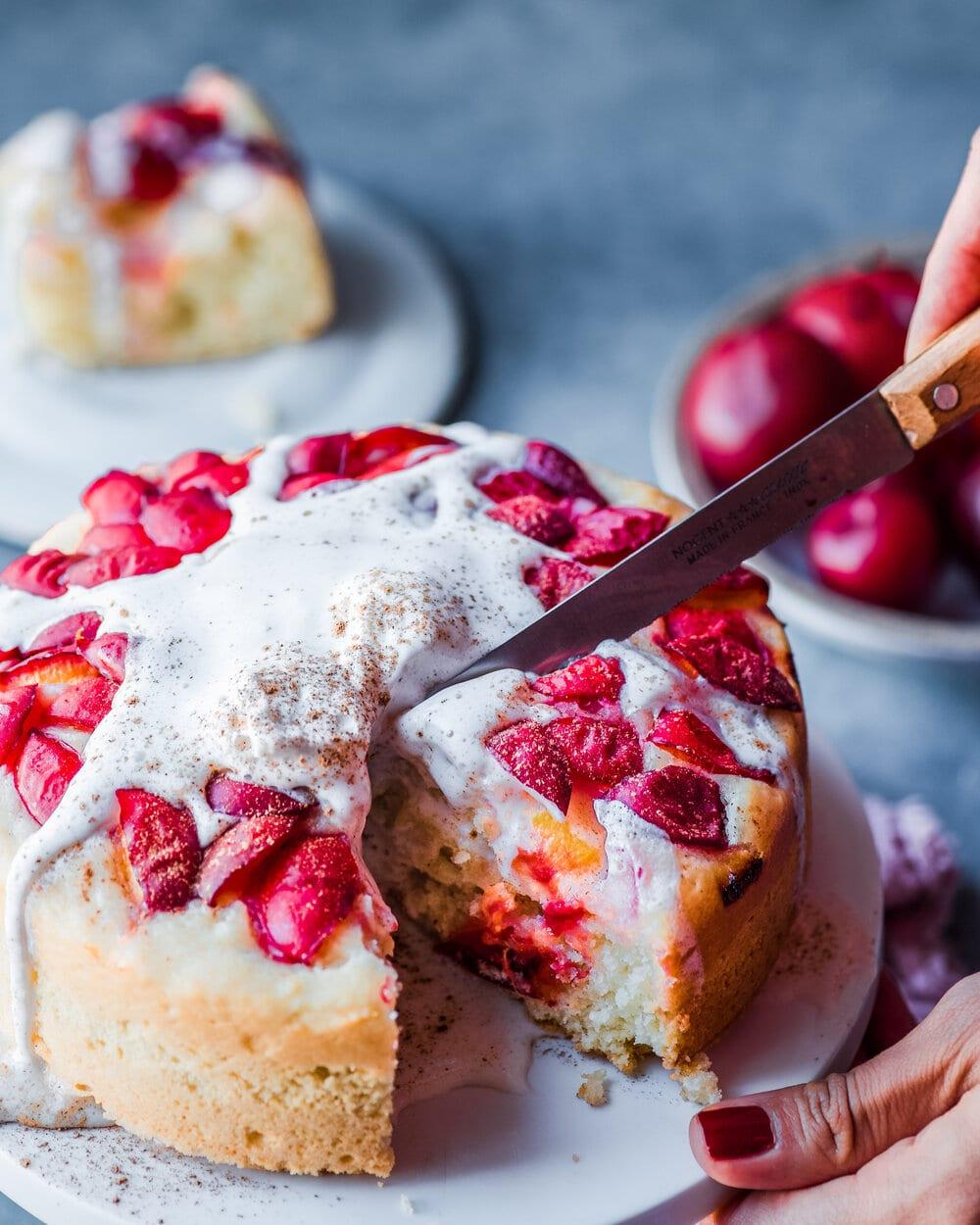 Vegan Plum Almond Cake