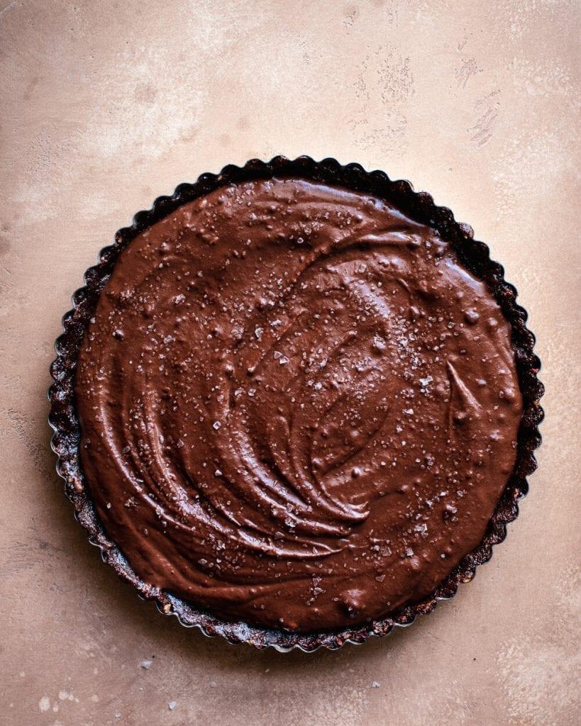 salted chocolate cream tart