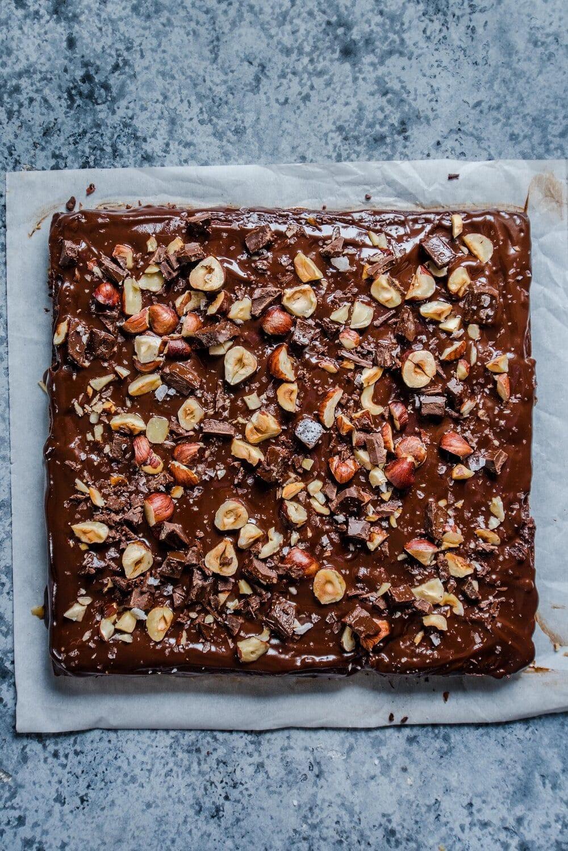 Vegan Tahini Brownies (Fudgy and Gluten-Free)