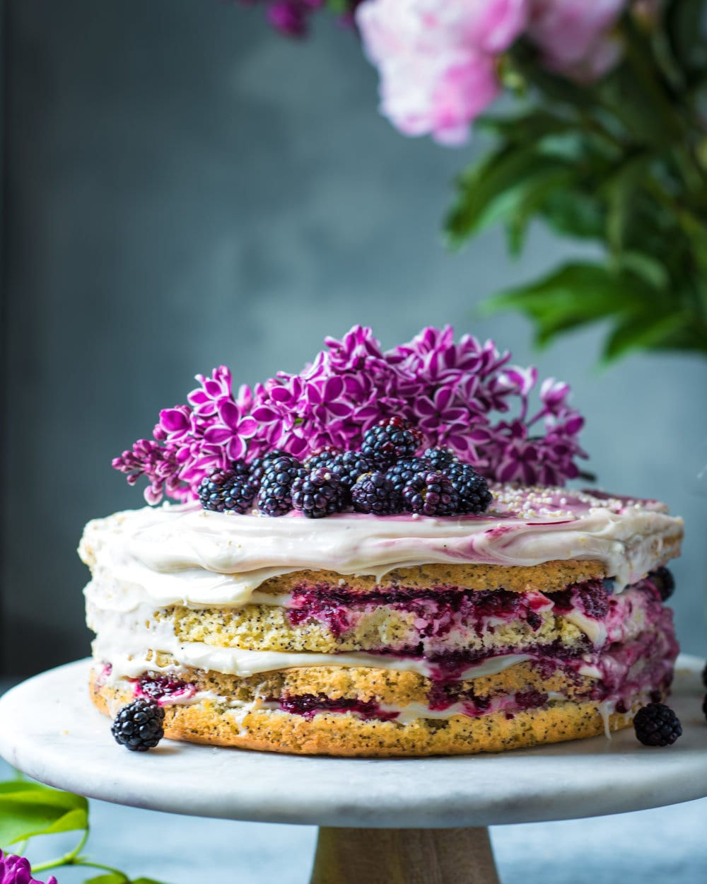 Vegan Lemon Poppy Seed Layer Cake
