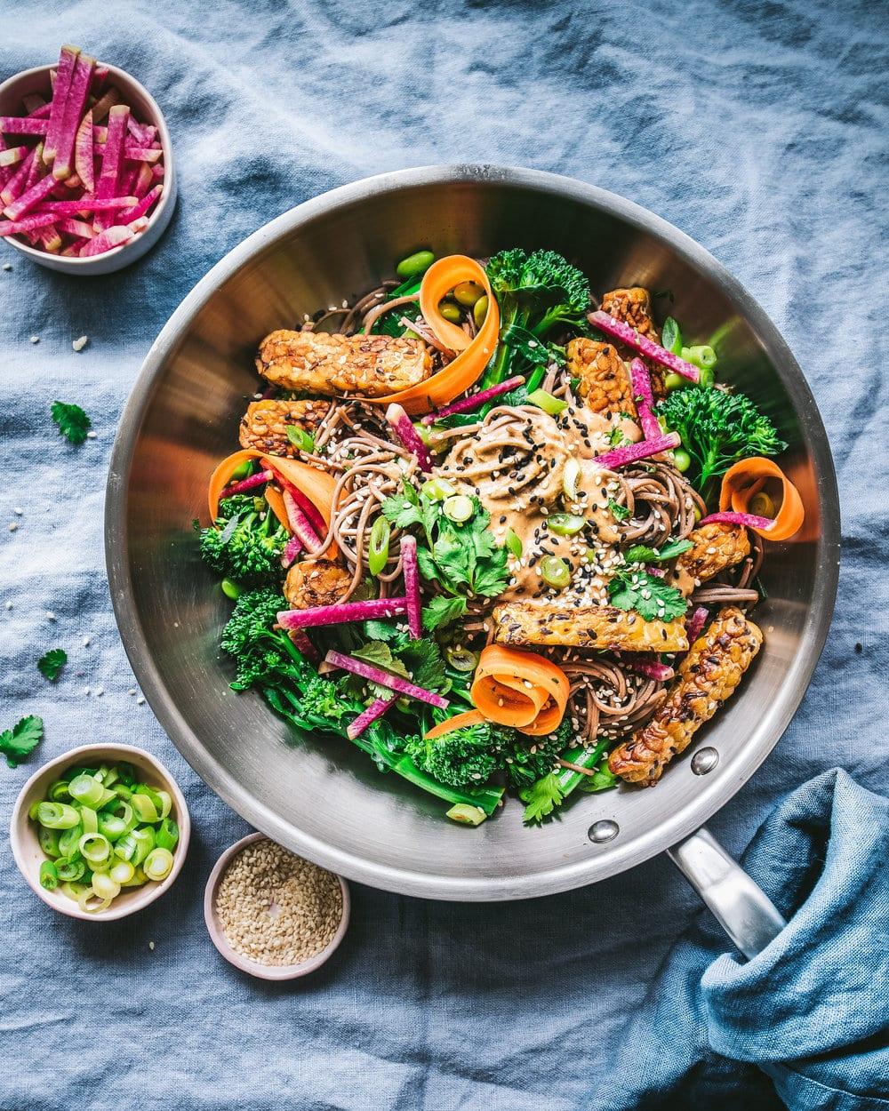 Spicy Sesame-Cashew Noodle Salad