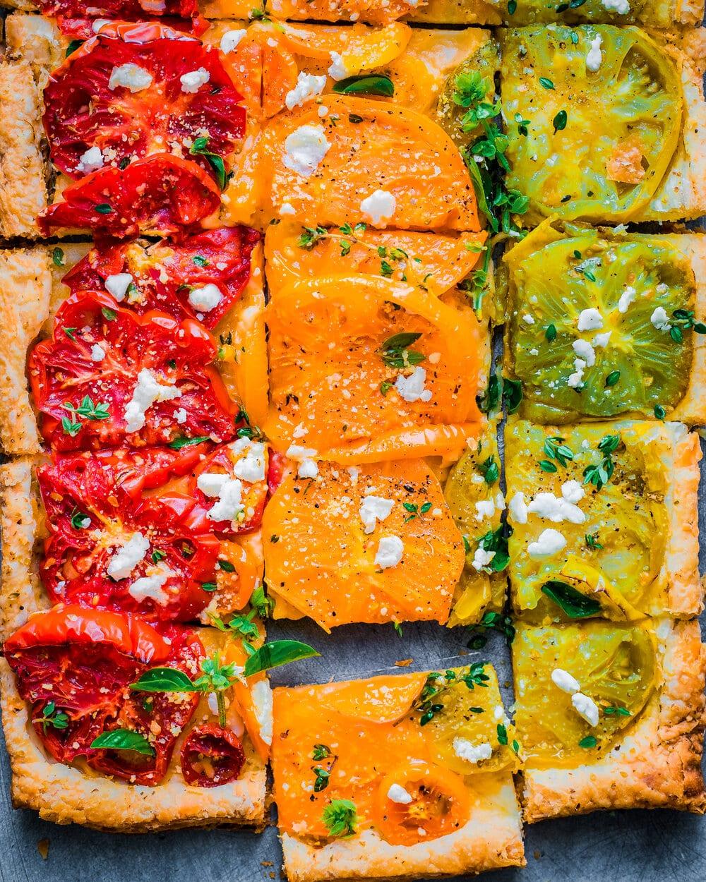 Cheesy Vegan Heirloom Tomato Tart   Rainbow Plant Life