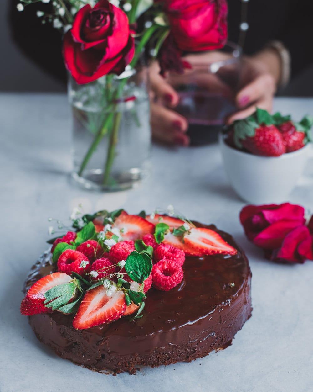 Instant Pot vegan chocolate cake