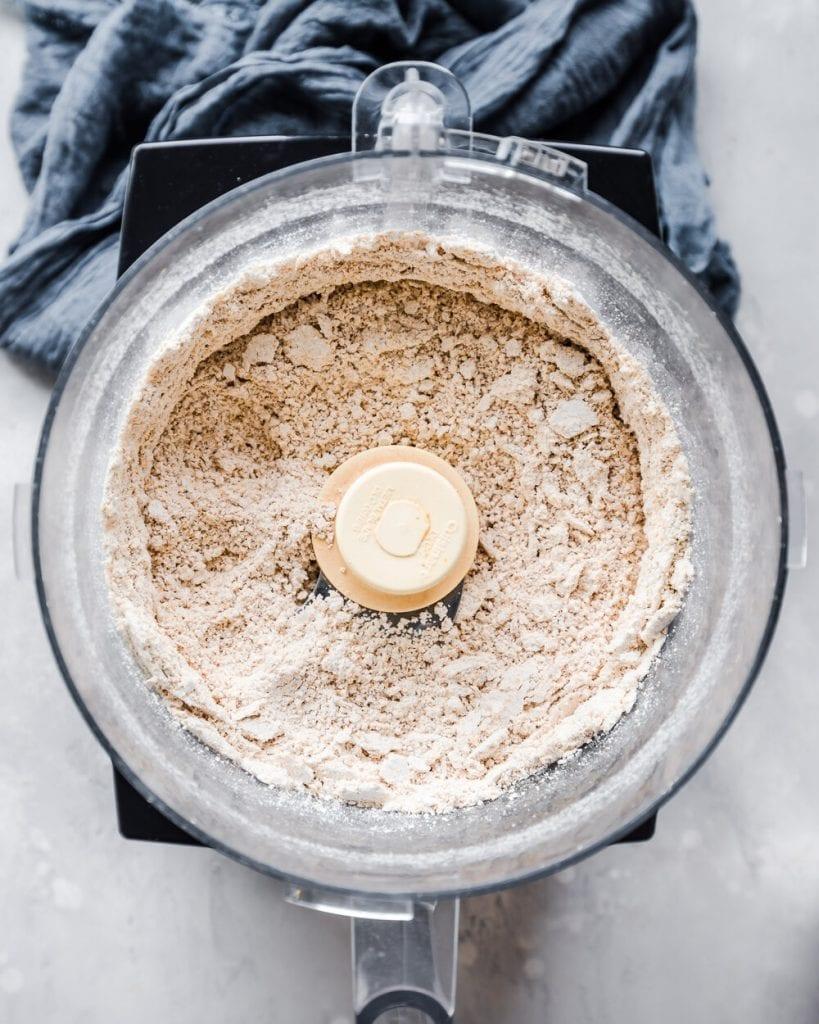 oat flour in food processor
