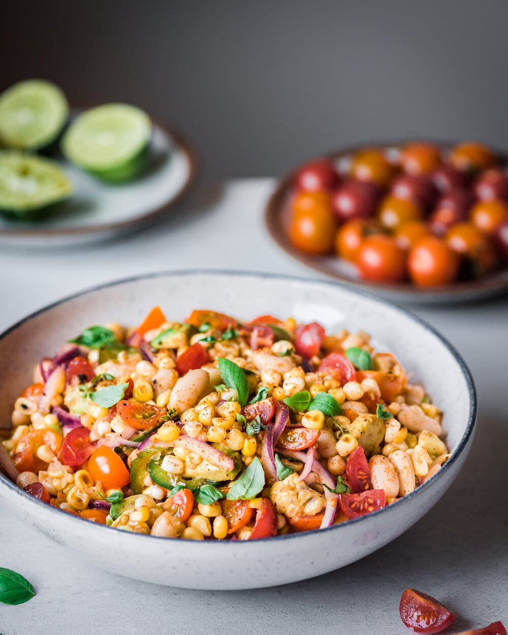 Charred Corn Salad with White Beans