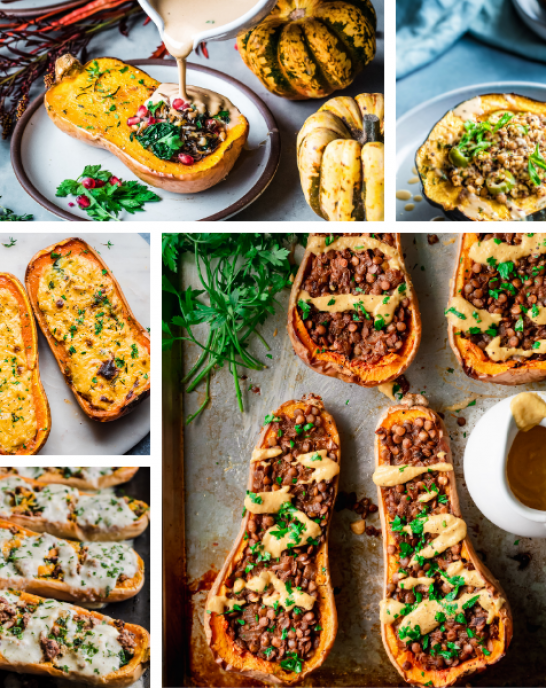 5 vegan stuffed squash recipes