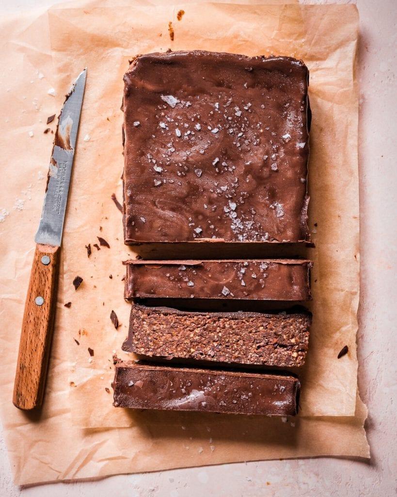 no bake-vegan nutella fudge bars