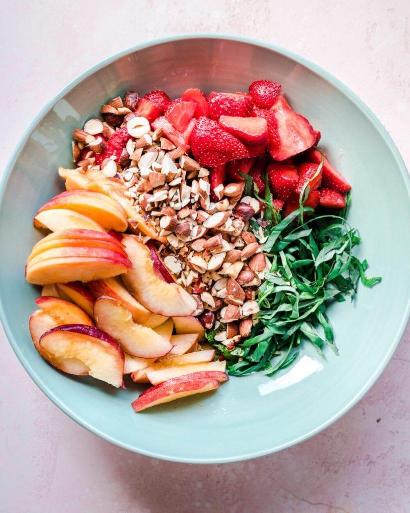 add chopped nuts to rhubarb
