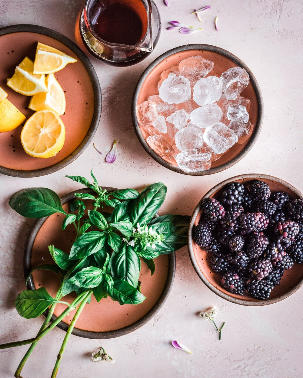 Healthy Blackberry Basil Lemonade