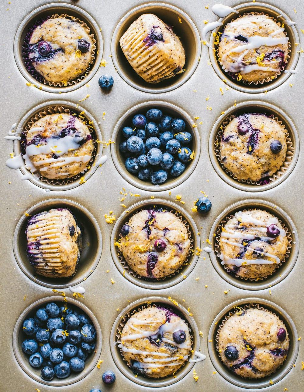 Vegan Blueberry Lemon Poppy Seed Muffins