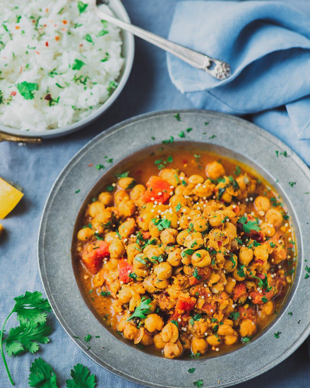 Healthy Vegan Instant Pot Recipes to Make This Winter. Instant Pot Chana Masala.