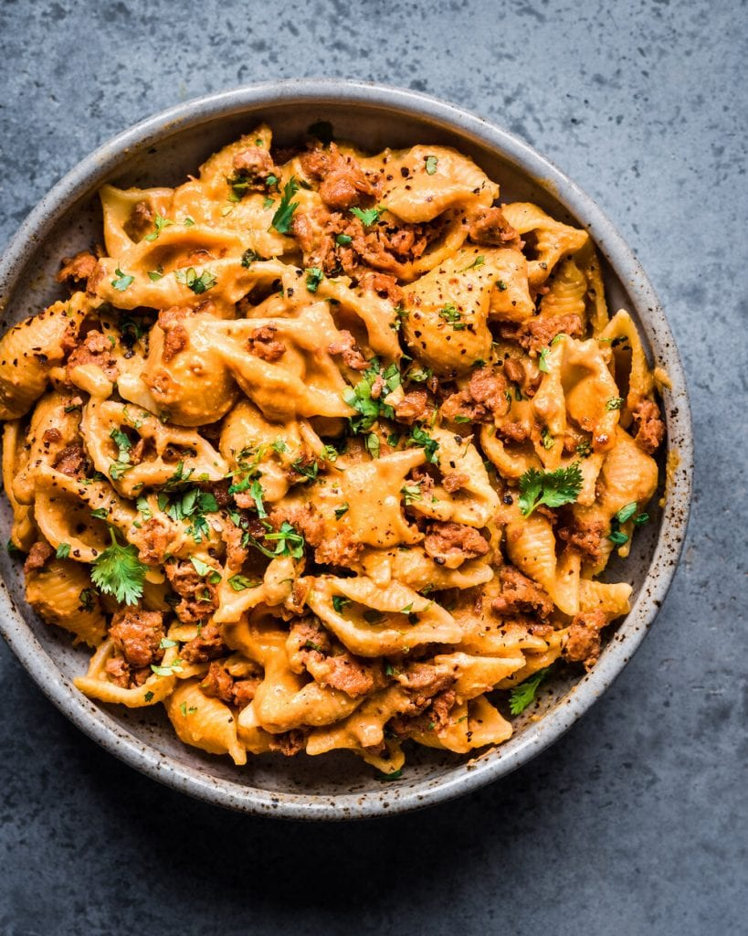 Creamy Chipotle Sweet Potato Pasta