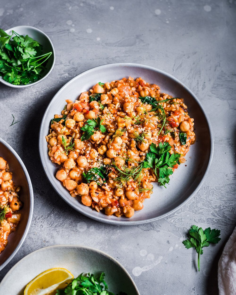 Instant Pot Fennel, Chickpea, and Brown Rice Stew