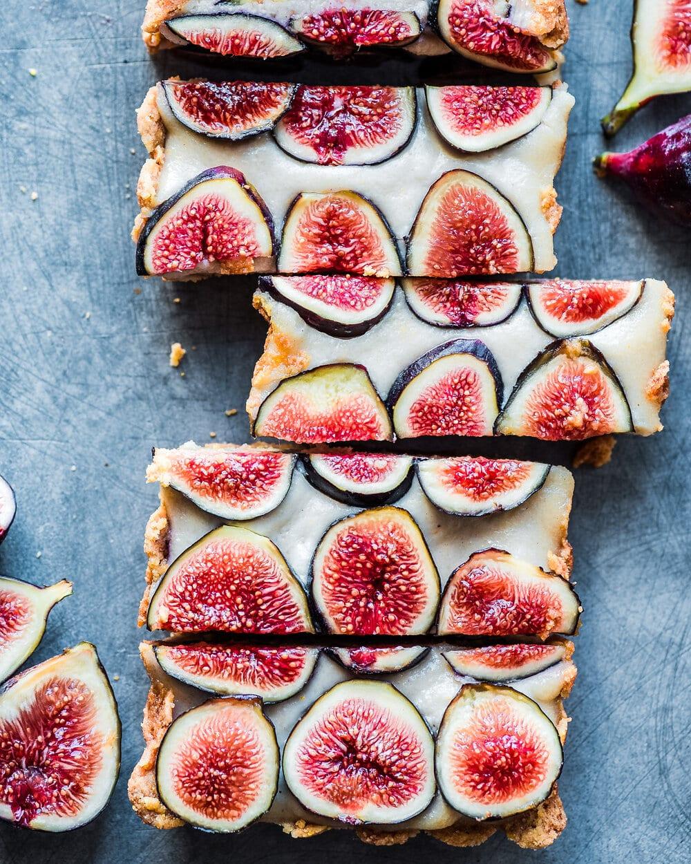 Fig Tart with Coconut-Cashew Cream (Vegan, Gluten-Free)