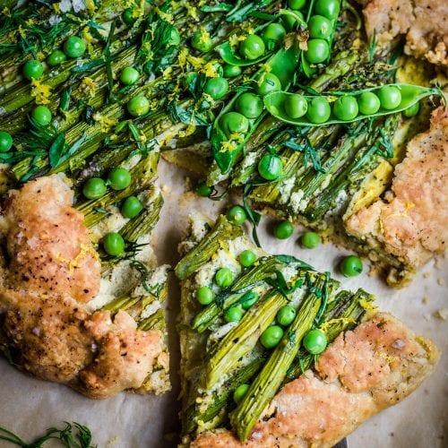 savory asparagus galette vegan