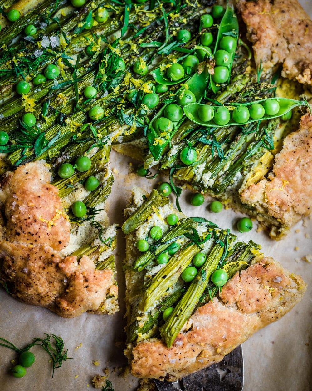 Savory Asparagus Galette with Vegan Ricotta