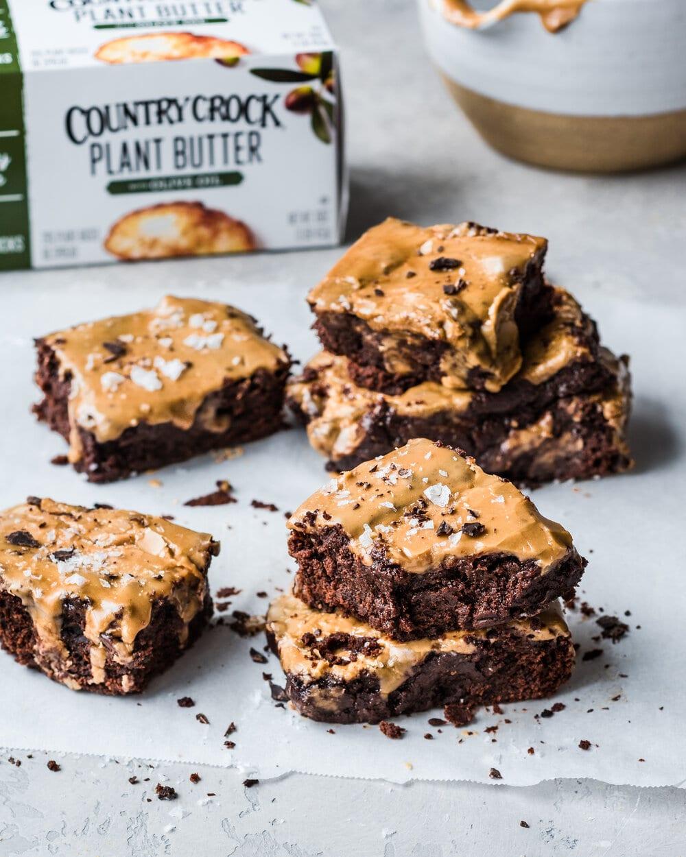 Vegan Gingerbread Brownies with Espresso Glaze
