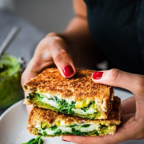 Vegan Green Goddess Grilled Cheese