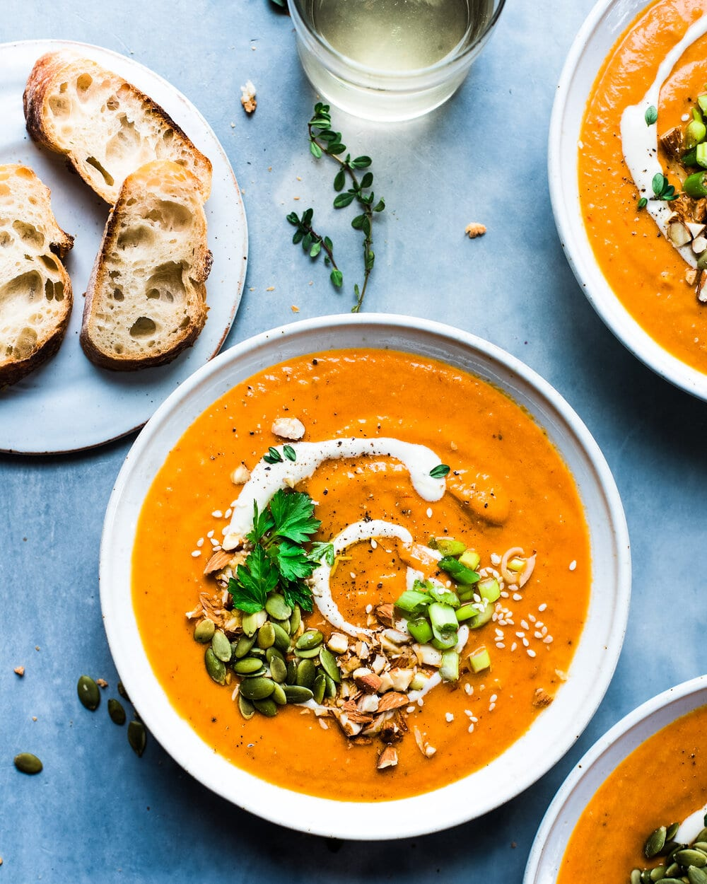 Spicy Instant Pot Carrot Harissa Soup
