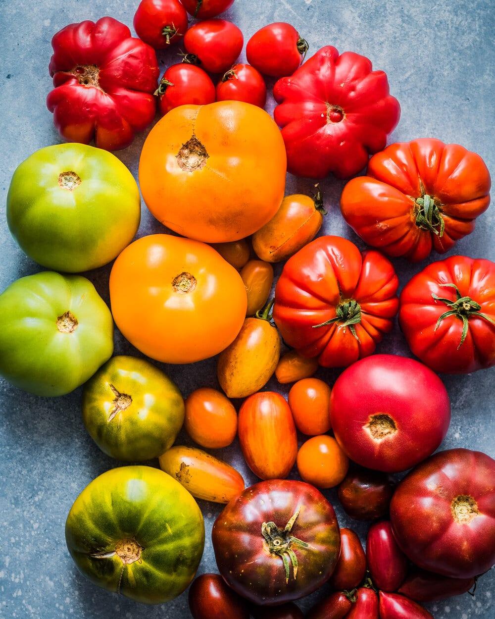 Cheesy Heirloom Tomato Tart (Vegan)