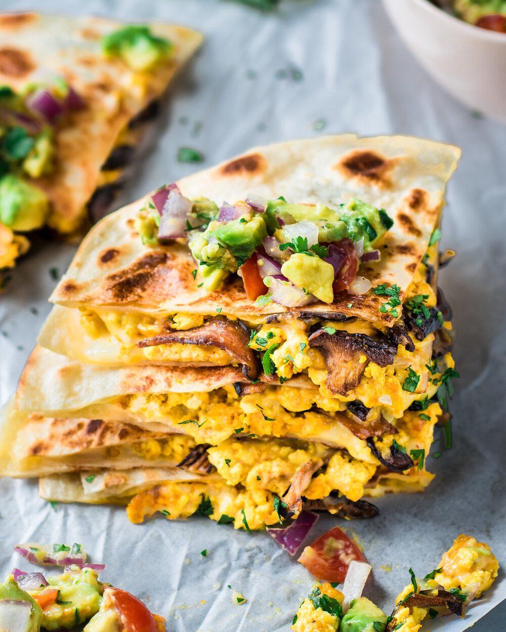25 Easy Kid-Friendly Vegan Recipes. Vegan Quesadillas with Mushroom Bacon.