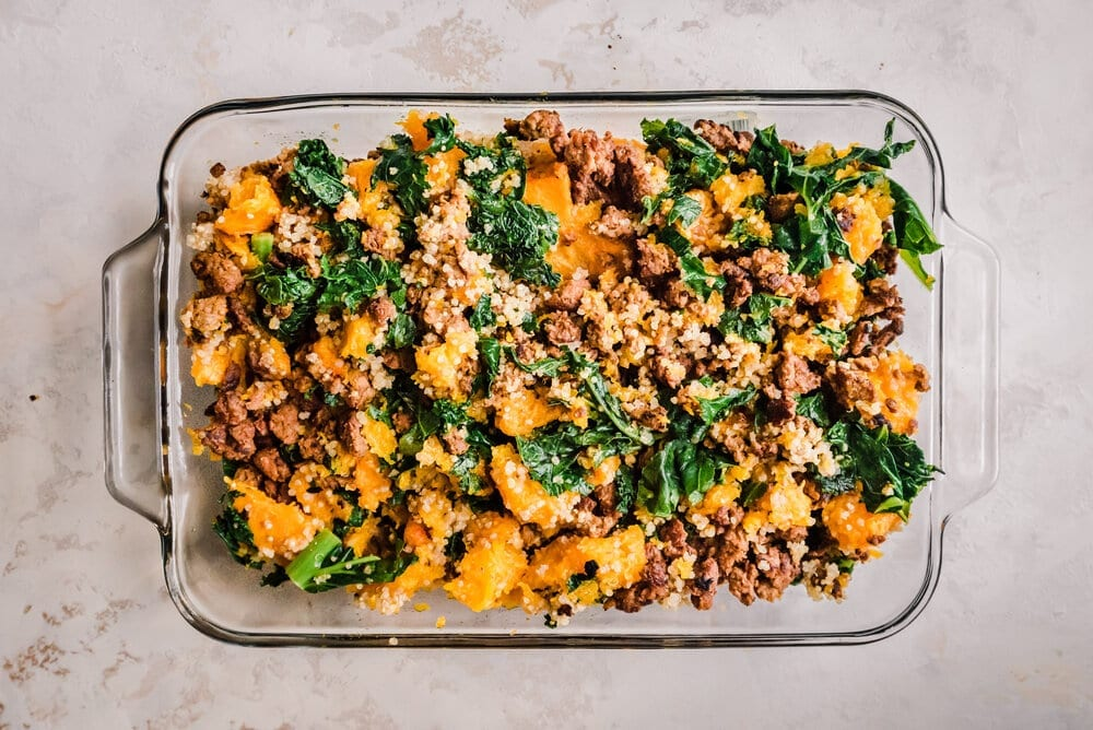 make filling - mix sausage kale quinoa (1 of 1).jpg