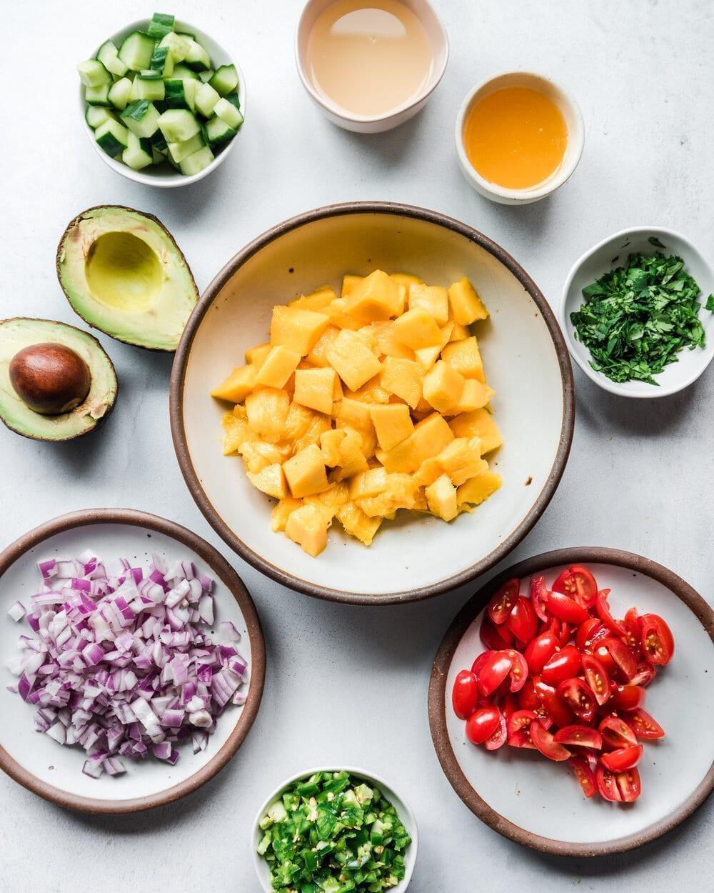 Easy Mango Avocado Salsa.