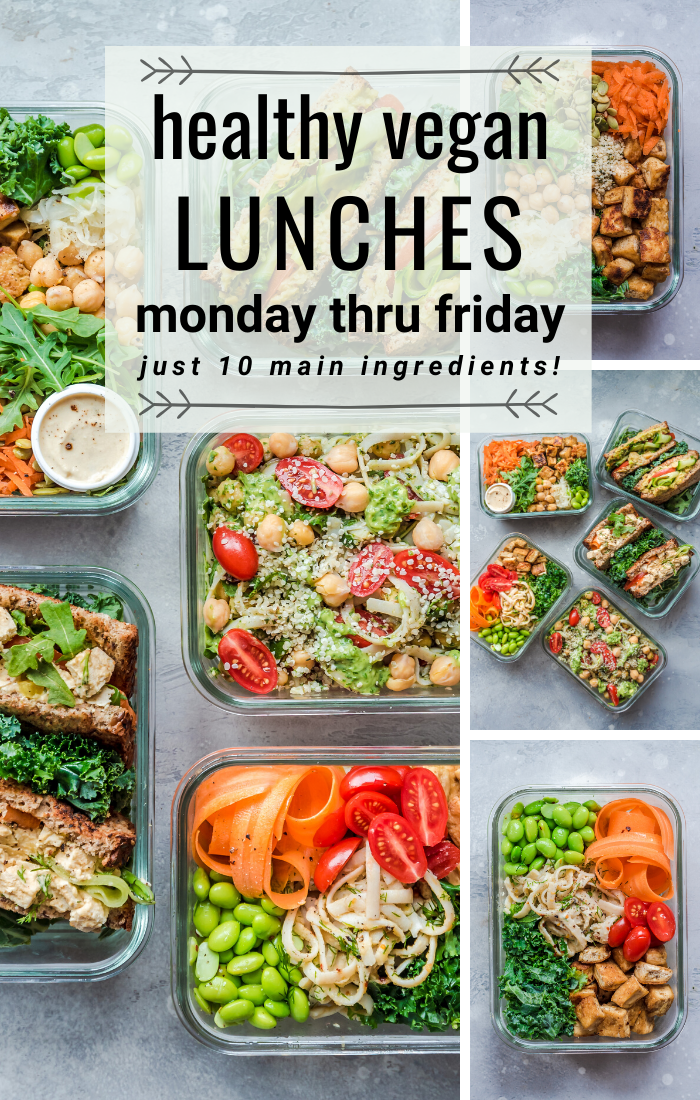 Vegan Lunches from Monday through Friday