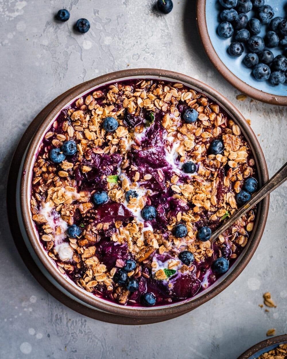 Vegan Instant Pot Nectarine Berry Crisp
