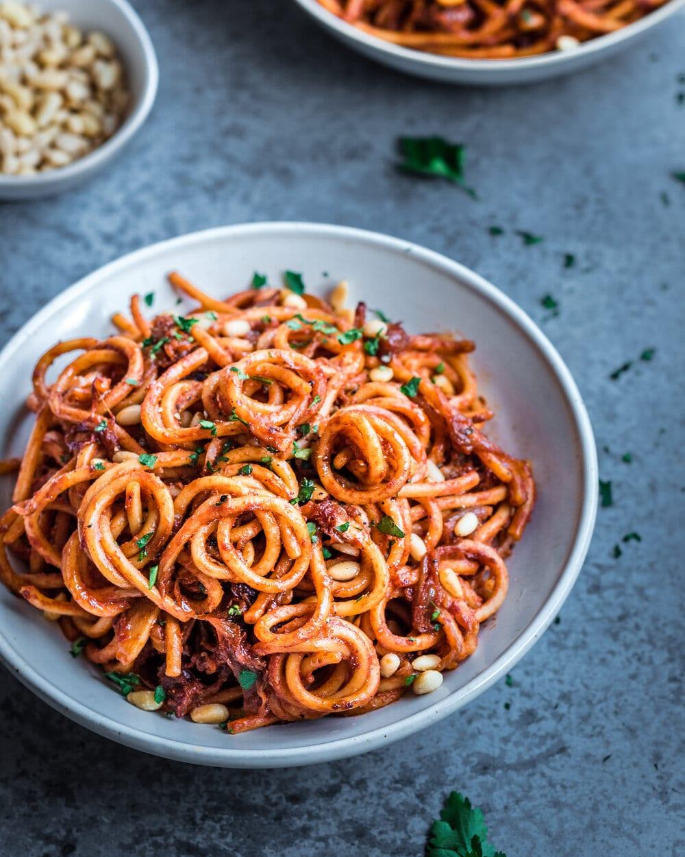 Vegan Caramelized Onion Pasta