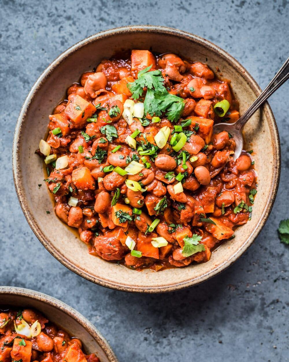 Smoky Sweet Potato And Pinto Bean Chili Rainbow Plant Life