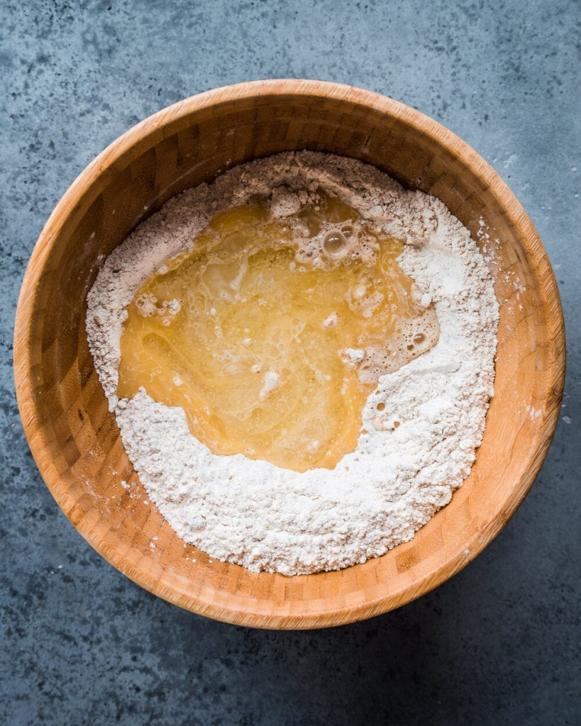 butter oil added to dry ingredients