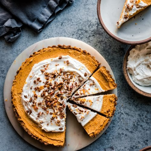 pumpkin cream tart