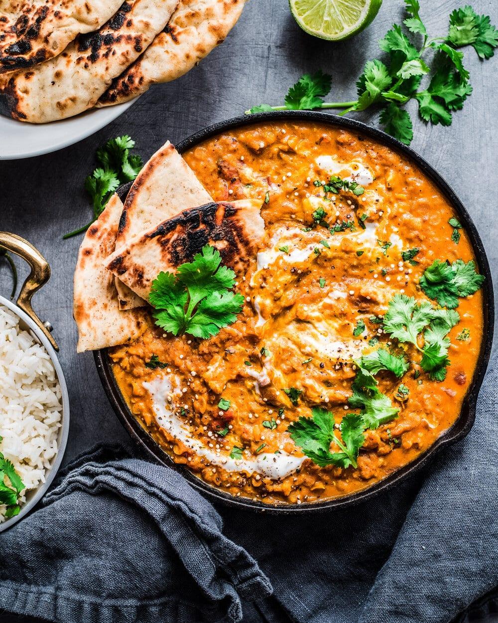 10 Healthy Vegan Lentil Recipes. the best vegan red lentil curry.
