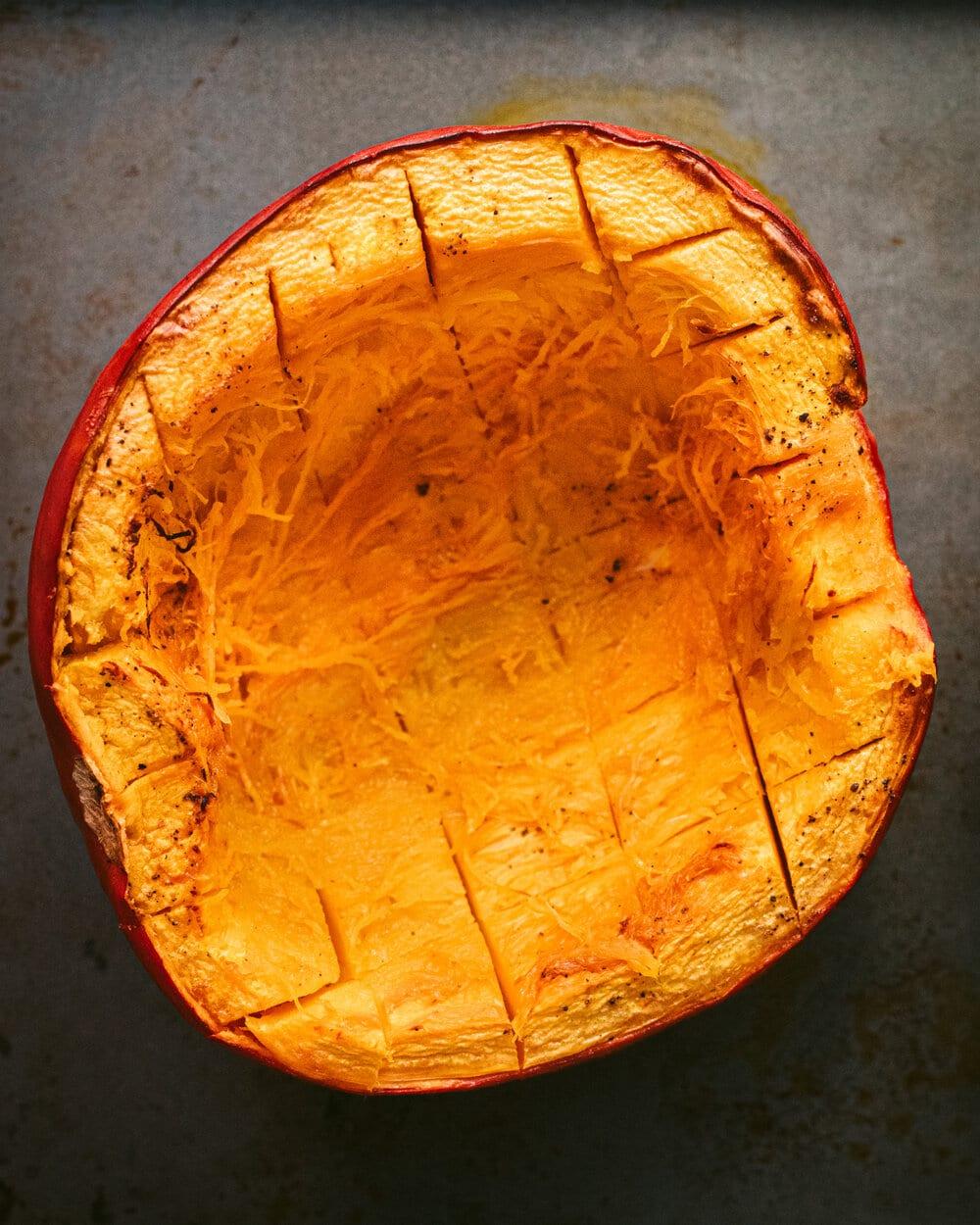 scored pumpkin