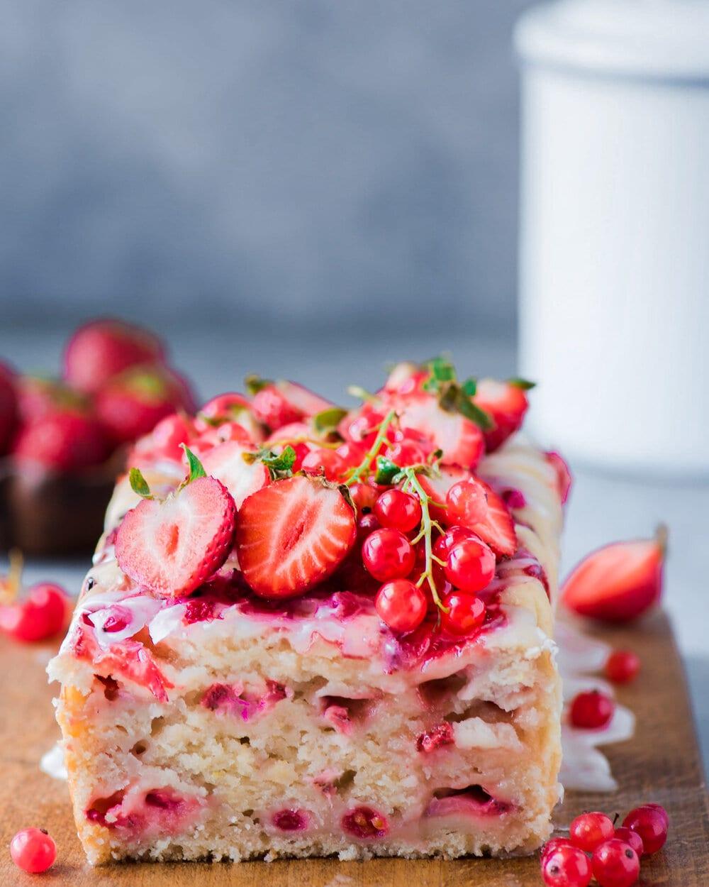 Strawberry Lemon Red Currant Loaf (Vegan)