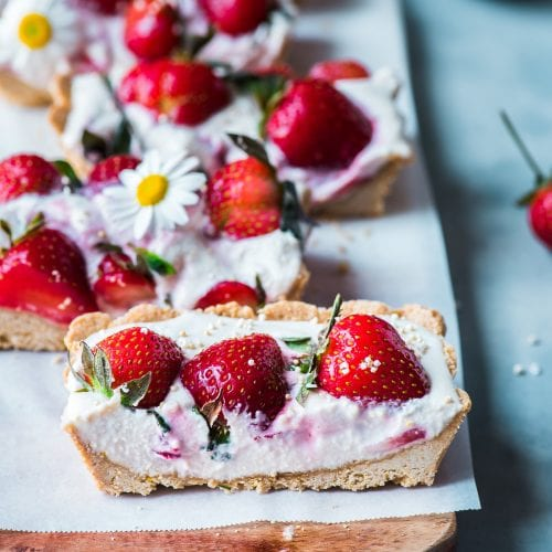 Vegan Strawberries and Cream Tart