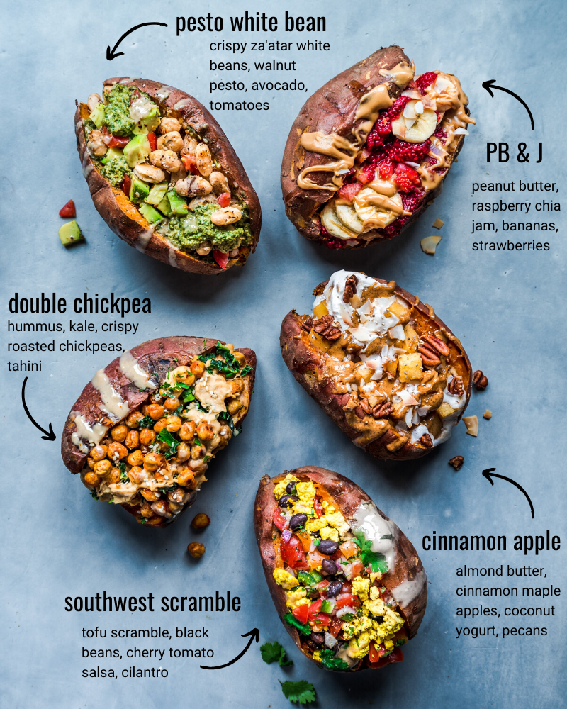 Stuffed Breakfast Sweet Potatoes: 5 Recipes!